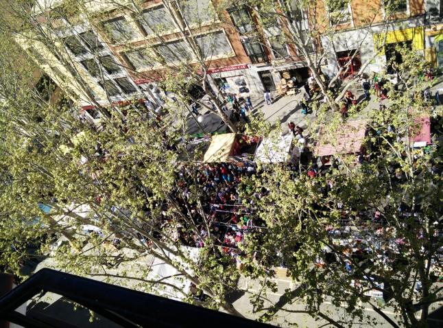 El Rastro dal mio balcone